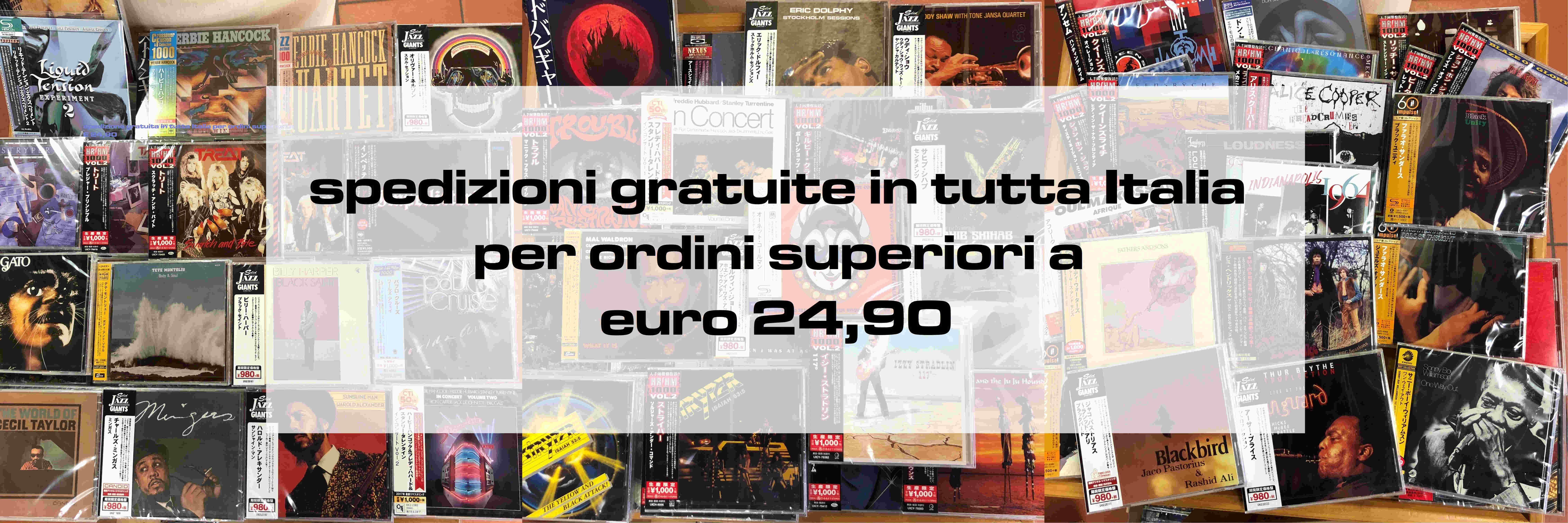 Spedizione gratuita in tutta italia su ordini superiori a € 24.90